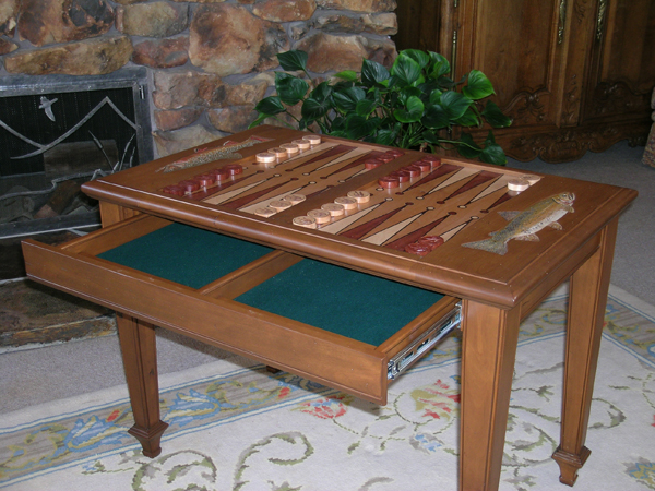 Custom Backgammon Table